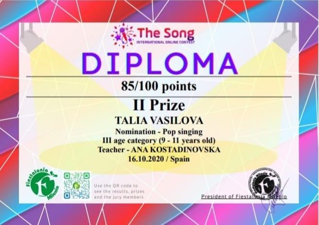 Шпанија ја награди Талија